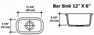 "12"" X 6"" Bar Sink Mold"