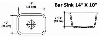 "14"" X 10"" Bar Sink Mold"