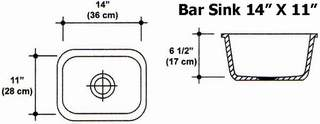 "14"" X 11"" Bar Sink Mold"