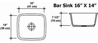 "16"" X 14"" Bar Sink Mold"