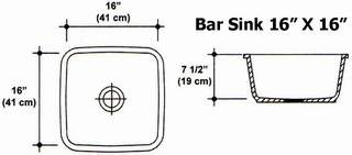 "16"" X 16"" Bar Sink Mold"