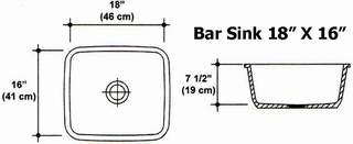 "18"" X 16"" Bar Sink Mold"
