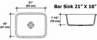 "21"" X 16"" Bar Sink Mold"