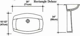 "18"" X 28"" Rectangle Deluxe Pedestal Sink Mold"