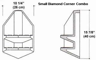 Small Diamond Corner Soap/Shampoo Combo Mold