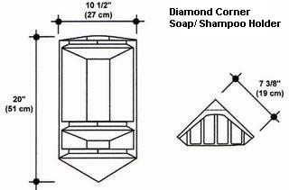 Diamond Corner Soap/Shampoo Holder Mold