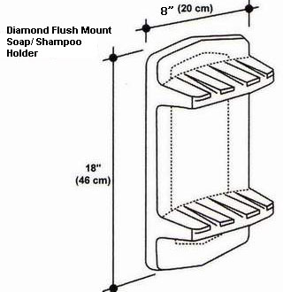 Diamond Flush Mount Soap/Shampoo Holder Mold