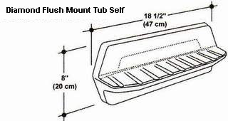 Diamond Flush Mount Tub Shelf Mold