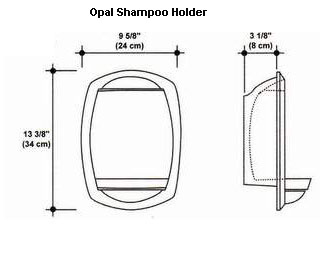 Opal Shampoo Holder Mold