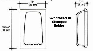 Sweetheart III Shampoo Holder Mold