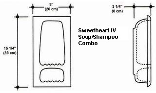 Sweetheart IV Soap/Shampoo Combo Mold