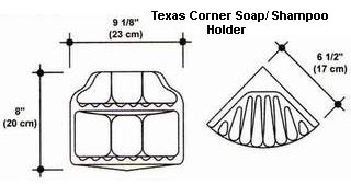 Texas Corner Soap/Shampoo Holder Mold