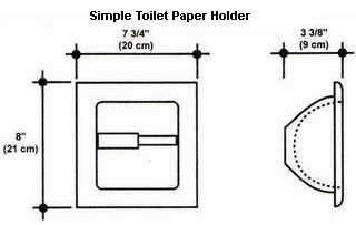 Simple Toilet Paper Holder Mold
