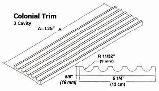 Colonial Trim Mold - 2 Cavity